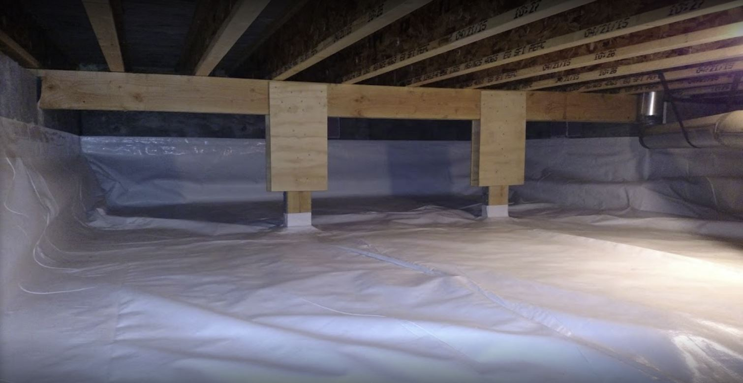 A waterproof crawl space